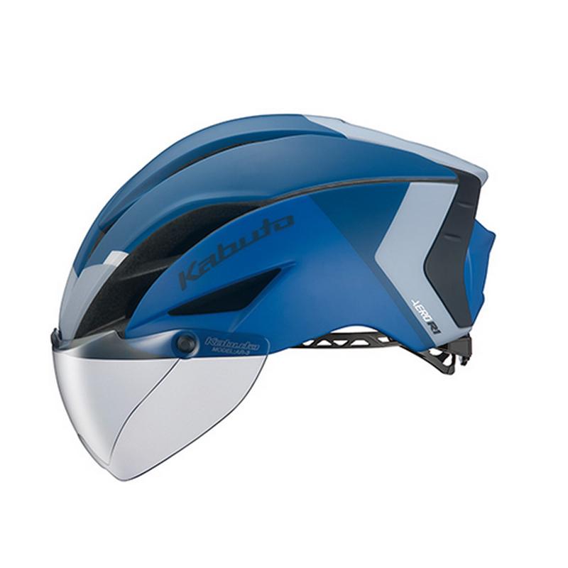OGK(オージーケー) ヘルメット AERO-R1 (エアロ-R1) S/M G-2マットネイビーブルー 20601160