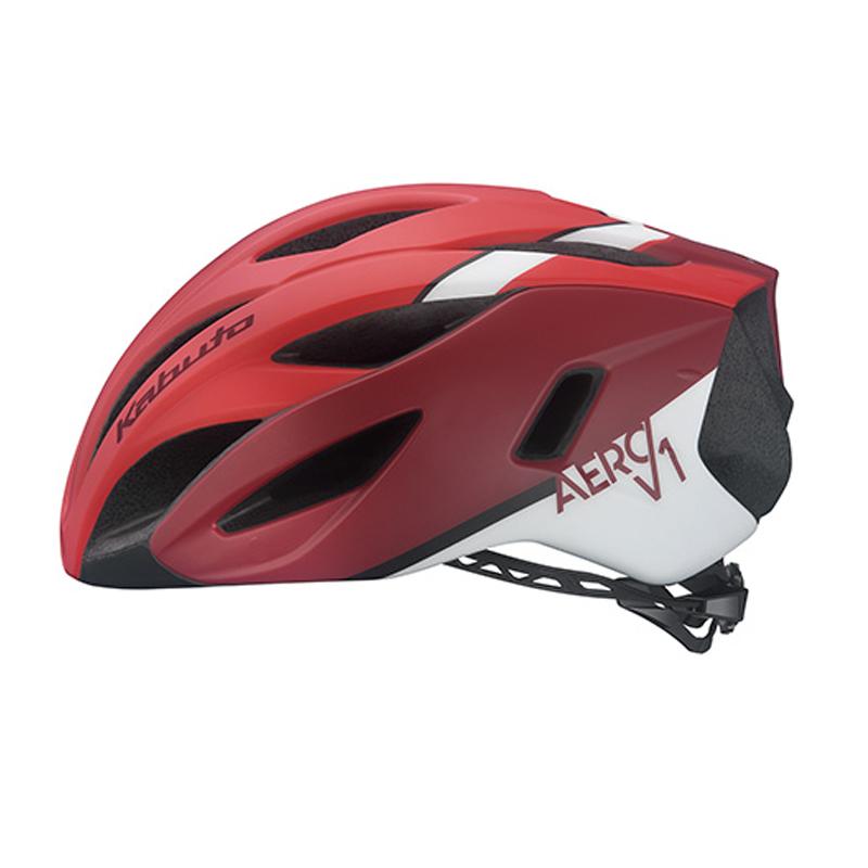 OGK(オージーケー) ヘルメット AERO-V1 L/XL G-1マットレッド 20602004