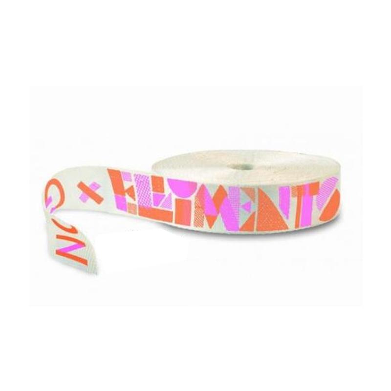 GIBBON(ギボン) Elliment Webbing 25m 25m ホワイト×オレンジ×ピンク A011301