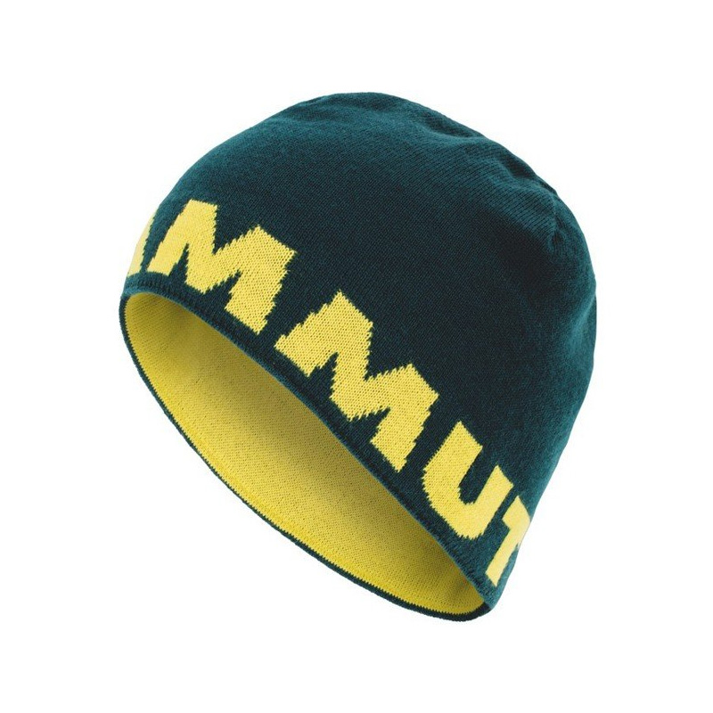 Mammut Logo Beanie ワンサイズ dark teal-canary