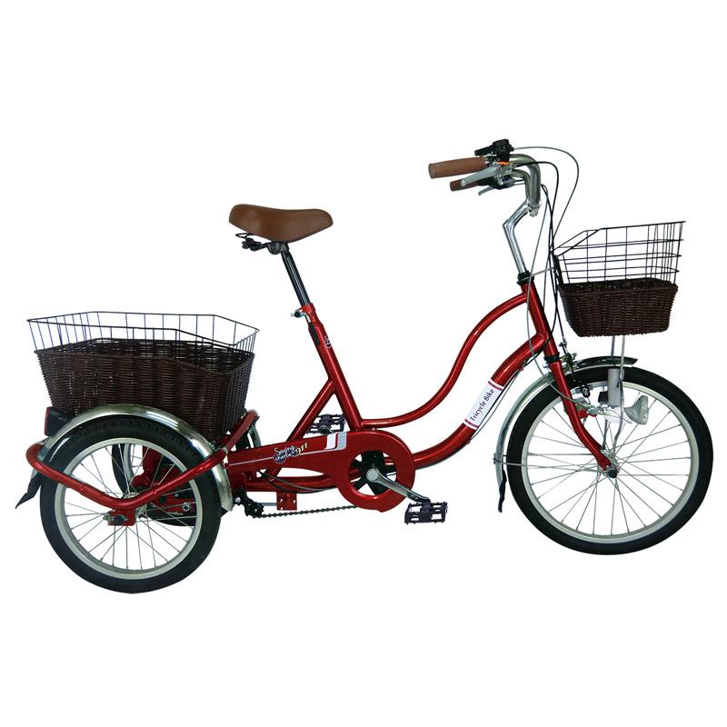 ミムゴ SWING CHARLIE ノーパンク三輪自転車G【クレジットカード決済のみ】 ワインレッド MG-TRW20NG