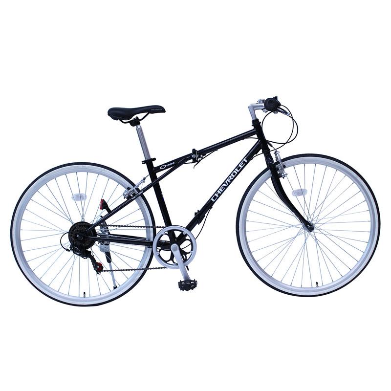 折りたたみ自転車 CHEVROLET(シボレー) 700C折畳みクロスバイク 6段変速【クレジットカード決済のみ】 700C ブラック MG-CV7006G