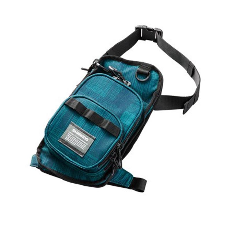 タックルバッグ シマノ SHIMANO 贈呈 WB-022R 日本限定 ドレイニングブルー ランガンレッグバッグ L 65474