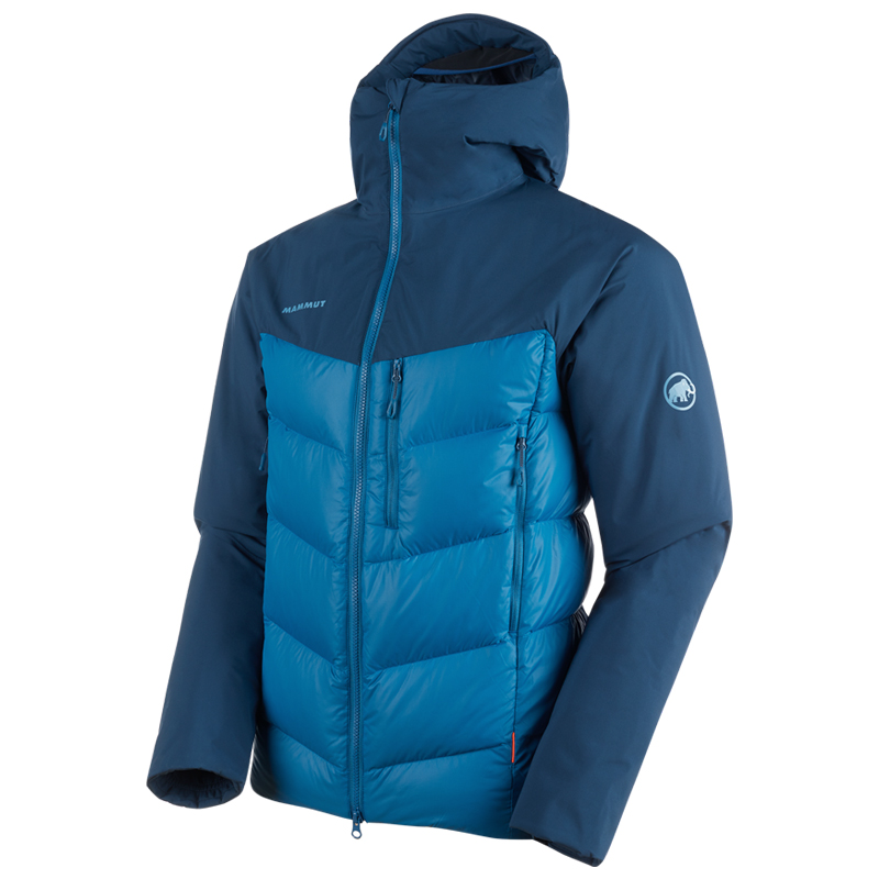 【P10倍☆3店舗買い回りで!4/9~】 MAMMUT(マムート) Rime Pro IN Hybrid Hooded Jacket AF Men's M 50255(sapphire-wing teal) 1013-01320