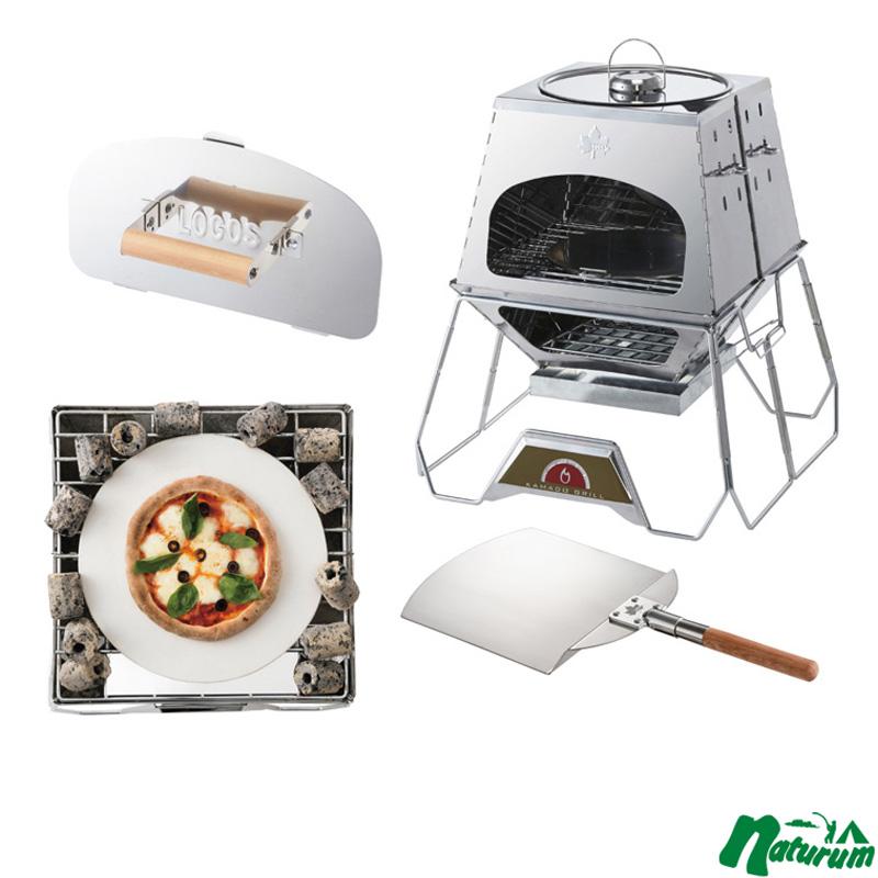 ロゴス(LOGOS) the KAMADO+KAMADO 専用遮温カバー+セラミックピザプレート+Pizzaスコップ 81064150