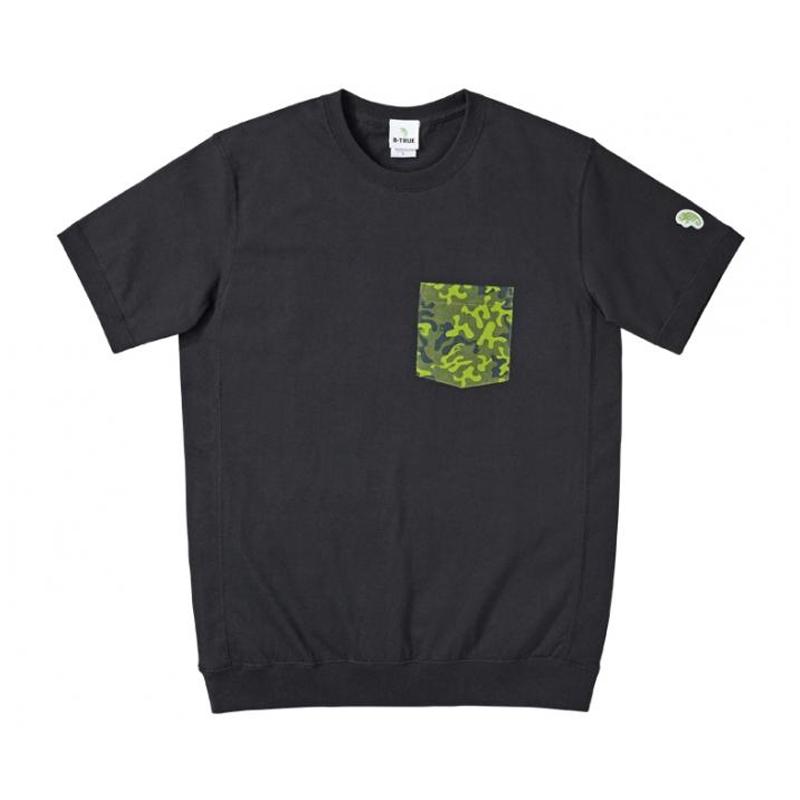 エバーグリーン(EVERGREEN) B-TRUE オリカモポケットTシャツ XL ブラック 5250532