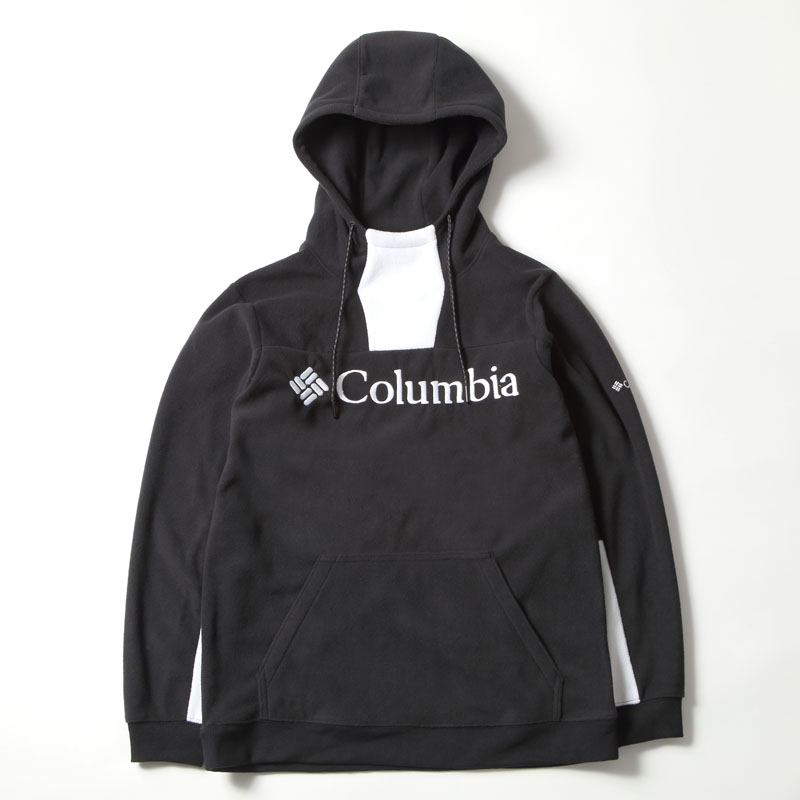 COLUMBIA LODGE M FLEECE Hoodieコロンビアロッジ M フリースフーディー L 010(BLACK WHITE)