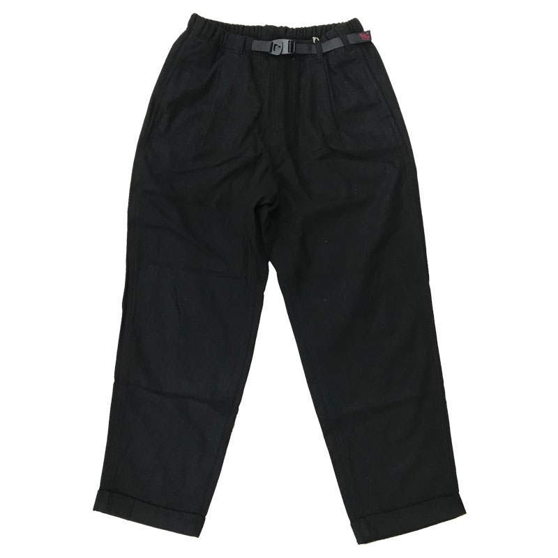 GRAMICCI(グラミチ) WOOL BLEND TUCK TAPERED PANTS M BLK GMP-010