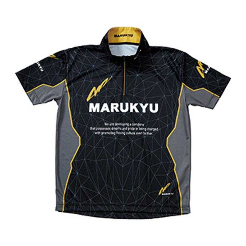 マルキュー(MARUKYU) マルキユージップアップシャツ02(半袖) M ブラック 16481