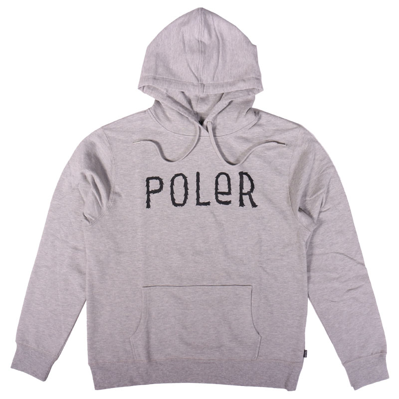 FURRY FONT HOODIE M HEATHER GRAY