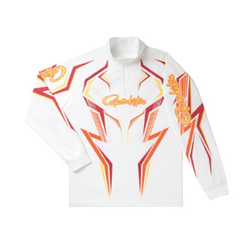 がまかつ(Gamakatsu) 2WAYプリントジップシャツ(長袖) GM-3540 3L ホワイト×ワインレッド 53540-35-0