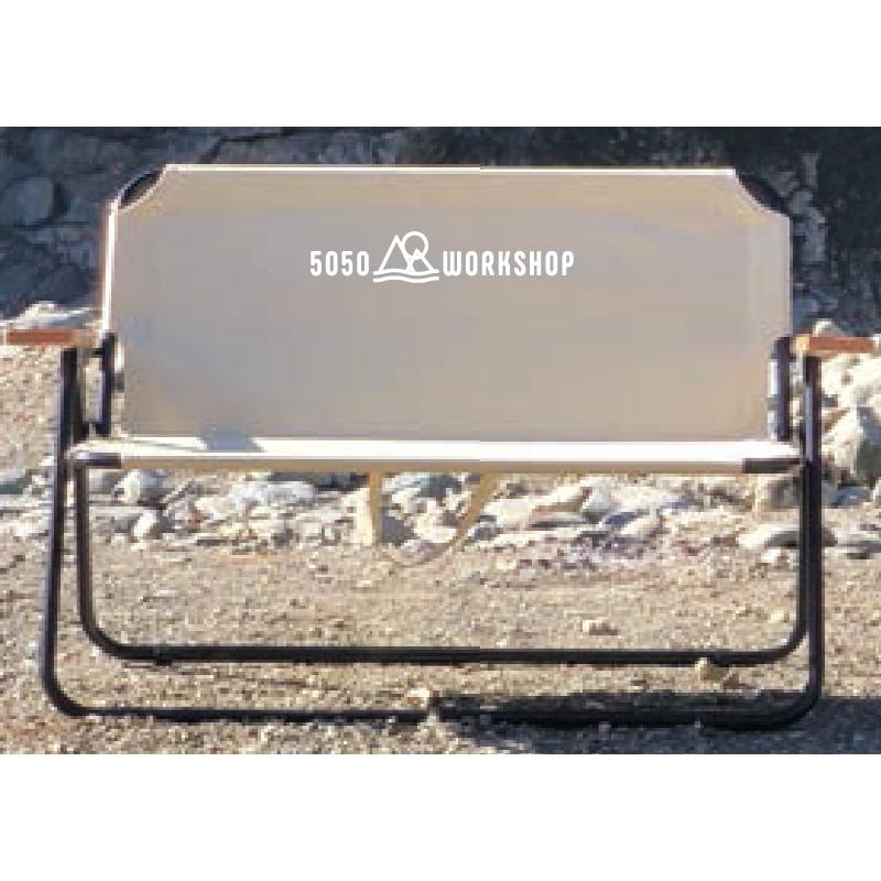 50/50 WORKSHOP(5050 ワークショップ) OUTDOOR FOLDING BENCH アウトドアフォールディングベンチ IVORY SA464-5WS-7151