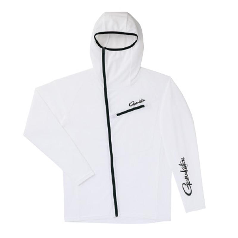 がまかつ(Gamakatsu) フーデッドジップシャツ GM-3566 3L ホワイト 53566-25-0