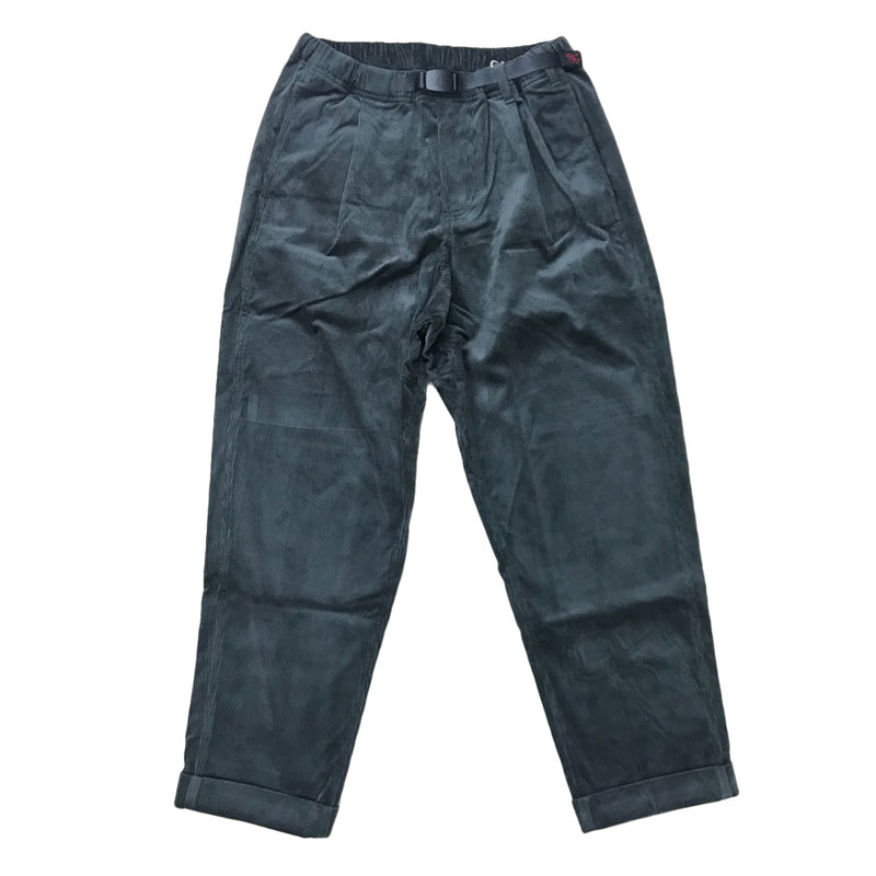 GRAMICCI(グラミチ) CORDUROY TUCK TAPERED PANTS L CHARCOAL GMP-020