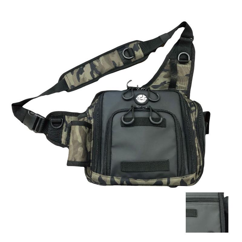 タックルバッグ メーカー在庫限り品 がまかつ Gamakatsu ランガンライトショルダーバッグ 卸売り LE-300 80300-1-0 ブラック