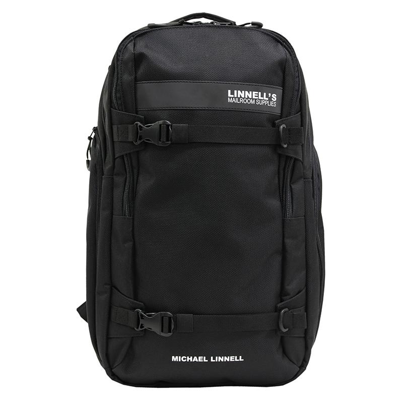 【P10倍☆3店舗買い回りで!4/9~】 マイケルリンネル(MICHAEL LINNELL) 2Flap Backpack ML-030 29L Black×Black 176666