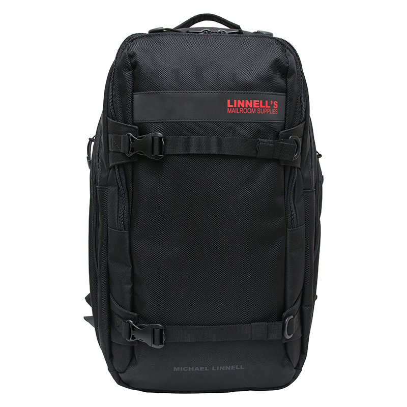 【P10倍☆3店舗買い回りで!4/9~】 マイケルリンネル(MICHAEL LINNELL) 2Flap Backpack ML-030 29L Black×BlackRed 180662