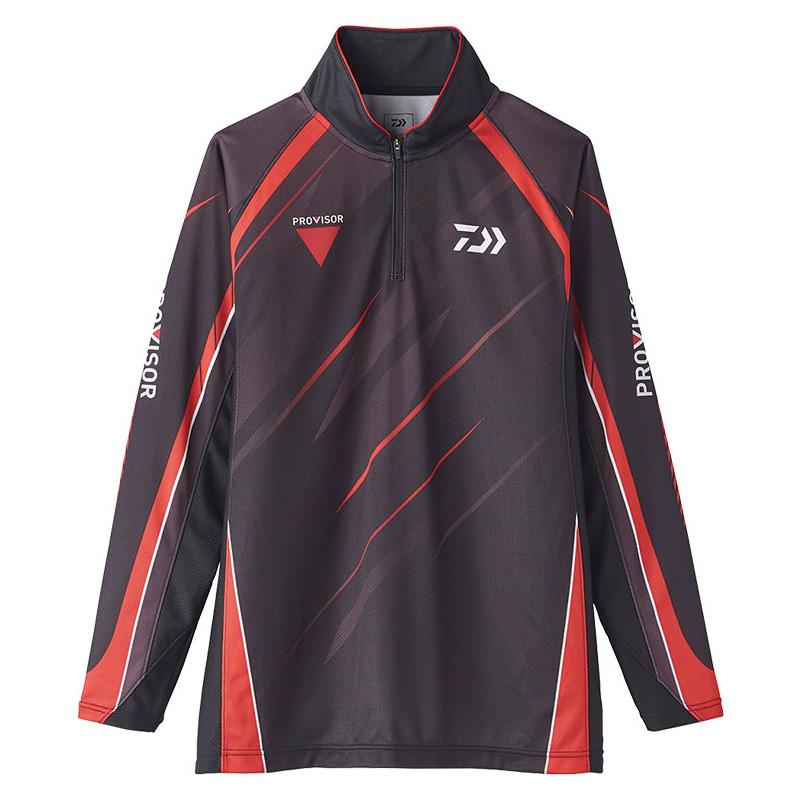 ダイワ(Daiwa) DE-74020 PROVISOR ウィックセンサー ジップアップ メッシュシャツ 2XL ブラック 08331984