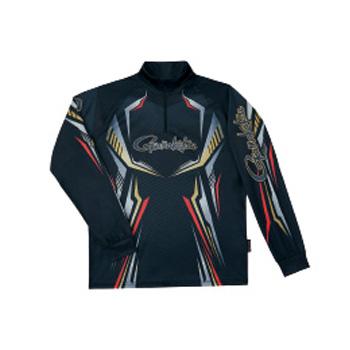 がまかつ(Gamakatsu) 2WAYプリントジップシャツ(長袖) GM-3616 L ブラック 53616-13-0