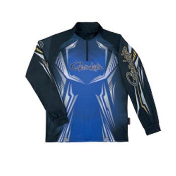 がまかつ(Gamakatsu) 2WAYプリントジップシャツ(長袖) GM-3616 S ブルー 53616-31-0