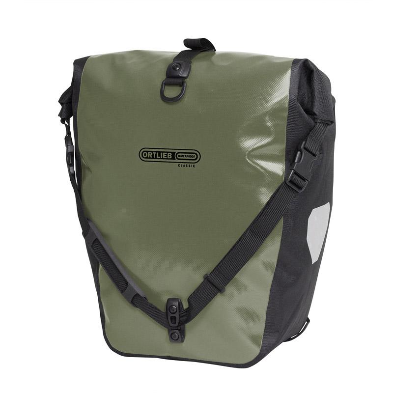 自転車バッグ 在庫あり ORTLIEB オルトリーブ バックローラークラシック ペア オリーブ 40L OR-F530119 営業 防水IP64