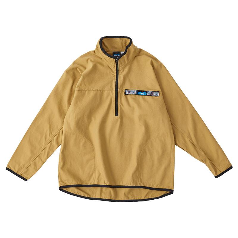 返品交換不可 セール 登場から人気沸騰 アウトドアシャツ メンズ KAVU カブー ビック ロングスリーブ M スローシャツ カーキ 19811085047005 Men's