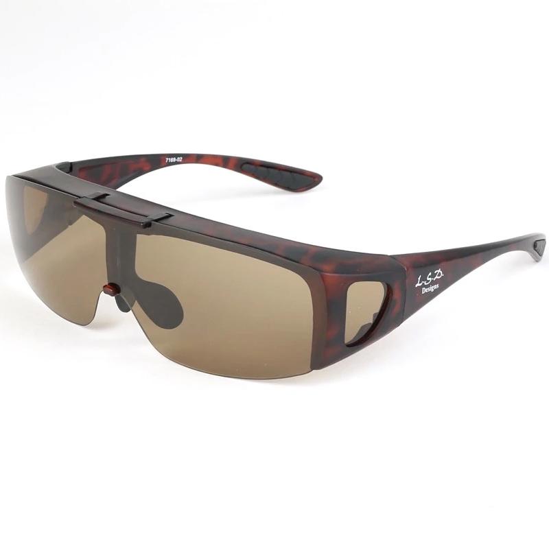 偏光グラス LSD エルエスディーデザインズ オーバーグラス タイプ4 078364525 マットタートイズ 海外輸入 ブラウン 低価格