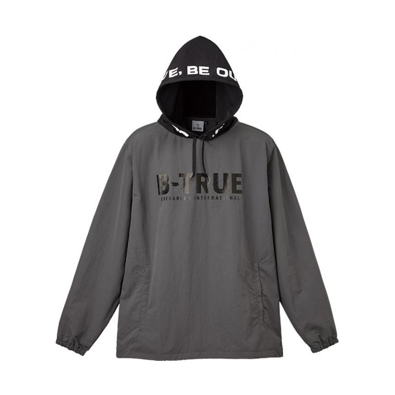 フィッシングウェア エバーグリーン EVERGREEN B-TRUE グレー×ブラック L 店舗 5250823 パッカブルプルパーカー 定価