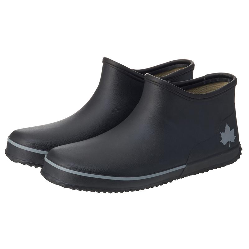 アウトドアブーツ・長靴 ロゴス(LOGOS) ショート レインブーツ S ブラック 36720714