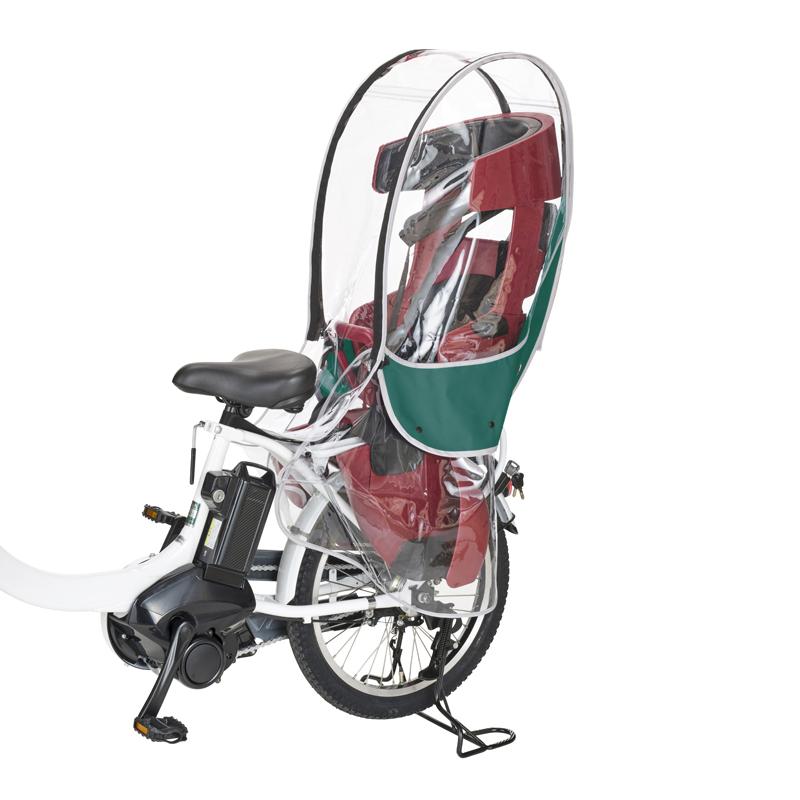 自転車アクセサリー OGK技研 割り引き 優先配送 オージーケー ヘッドレスト付リヤチャイルドシート用レインカバー グリーン RCR-009