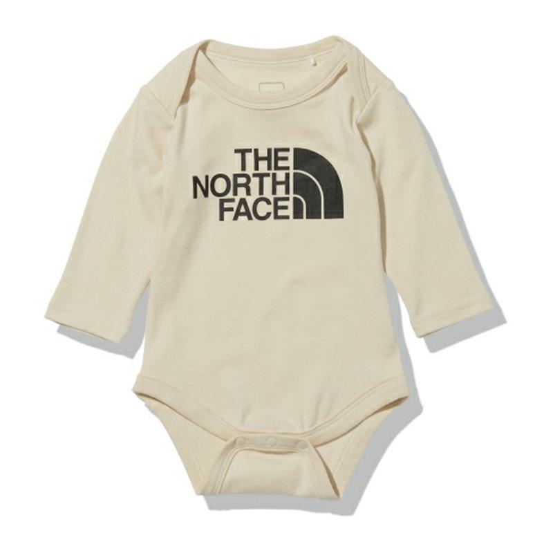 アウトドアウェア ジュニア キッズ ベビー THE NORTH FACE ついに再販開始 ザ ノースフェイス BS ロンパース コットン 21秋冬 テレビで話題 ロングスリーブ スムース NTB62153 80 ブリーチドサンド