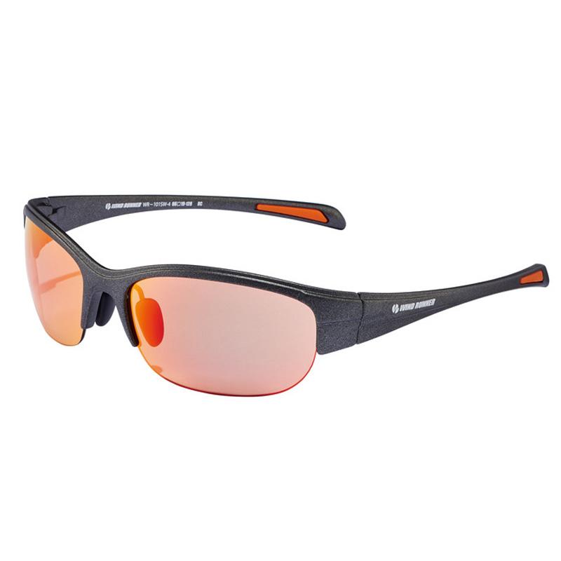 偏光グラス メガネの愛眼 WIND 10%OFF セール 特集 RUNNER レッドシャドーミラーライトブラウン ガンメタル WR-101SW-4