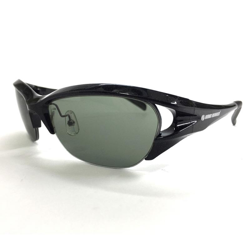 偏光グラス バーゲンセール メガネの愛眼 WIND RUNNER パールブラック WR-104SX-1 売り出し グリーンスモーク