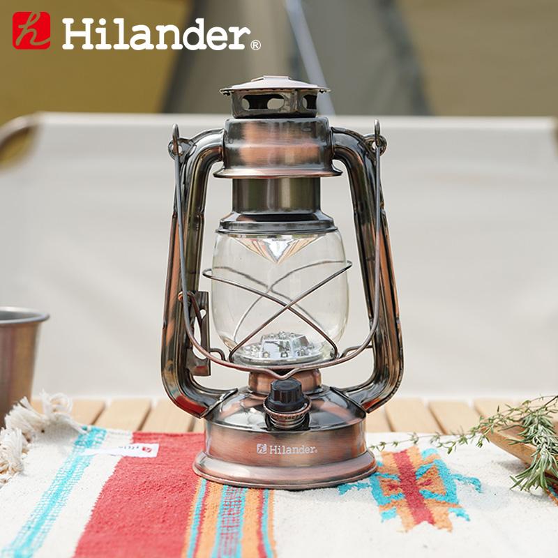 アウトドアランタン 宅送 Hilander ハイランダー HCA0230 アンティークLEDランタン ブロンズ 入荷予定