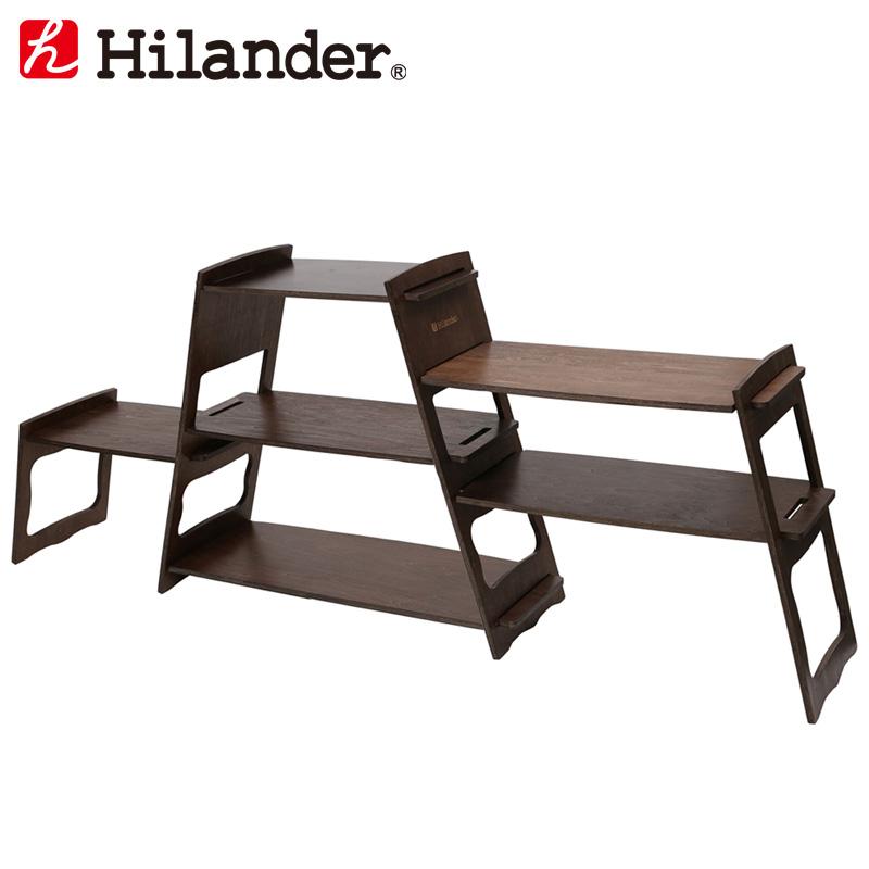 アウトドアスタンド Hilander ハイランダー HCA0249 お見舞い プライウッドマルチラック 直輸入品激安