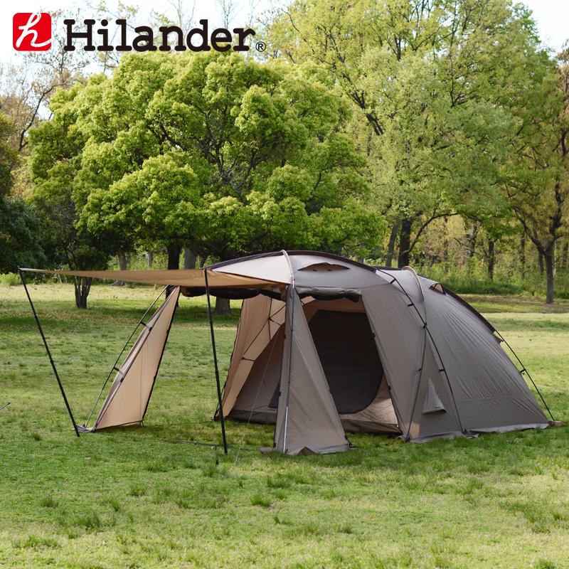 送料無料 激安 お買い得 最新号掲載アイテム キ゛フト テント Hilander ハイランダー アルミフレーム2ルームテント 520300 HCA0355 スタートパッケージ