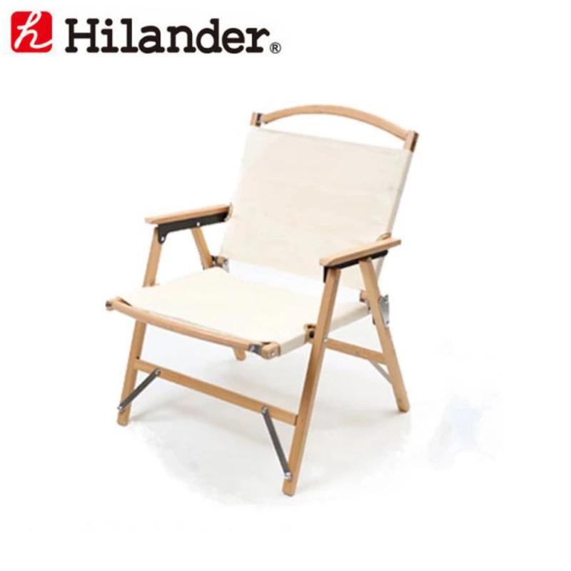 Hilander(ハイランダー) ウッドフレームチェア コットン 単体 アイボリー(コットン生地) HCA0180