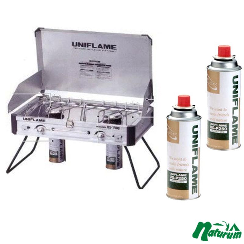 ユニフレーム(UNIFLAME) ツインバーナー US-1900+プレミアムガス×2 610305