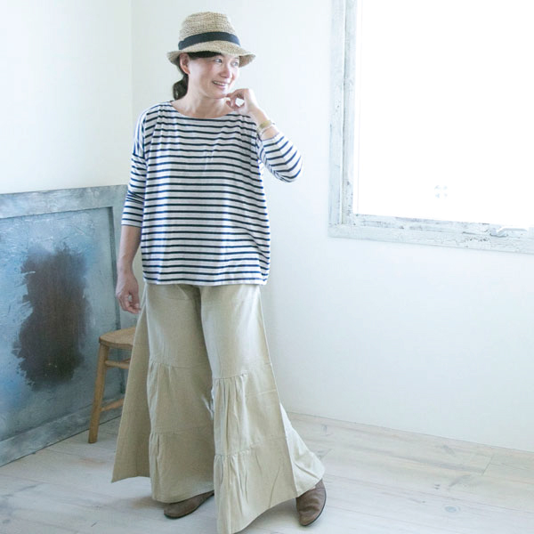 Cute cute cute Gaucho pants scurcio Womens natural pants bottoms Gaucho pants long natural wear Gaucho geese pants adult so it's quite long adult fall/winter fall/winter PNT079