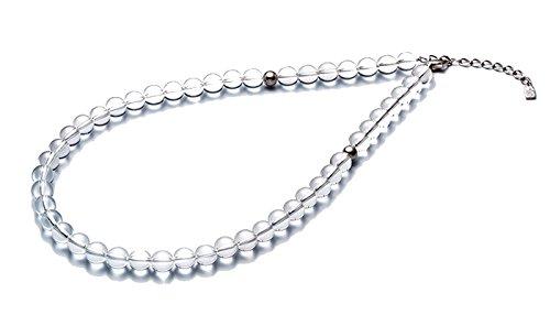 0515AQ810053/水晶ネックレス(8mm) 50cm(+5cmアジャスター) 4940756360439/ファイテン株式会社