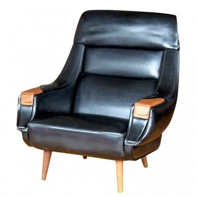 4947849940165 hw klein black vinyl chair STG-LOU-1579【スパイス社】