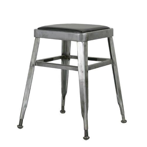 LIGHT-45 STOOL RAW/113-300RW ライト スツール 椅子 いす イス レザークッッション スタッキング スチール DULTON(ダルトン)