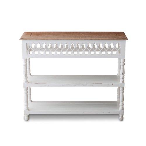 W.S コンソールテーブル W97.5 D34 H80 天板:シーシャムウッド/脚:マンゴーウッド 40913/4512706409132/ポッシュリビング
