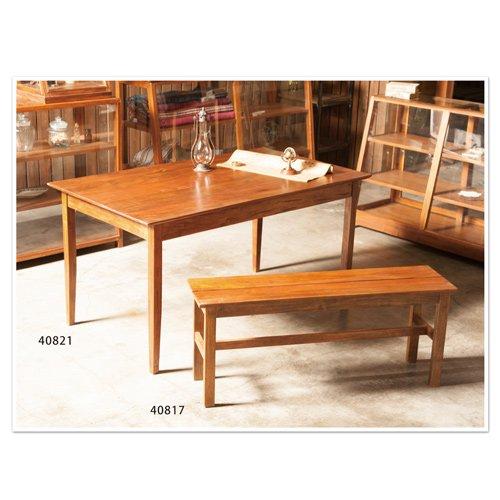 EWIG ダイニングテーブル W140 D80 H72 アカシアウッド 40821/4512706408210/ポッシュリビング