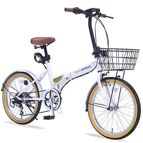株式会社 池商 折畳自転車20・6SP・オールインワン M-252 4547035 125217 ホワイト