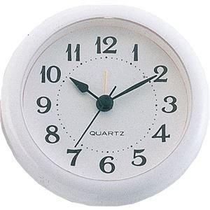 【おまとめ15個セット】 アーテック 丸型時計 ホワイト アラーム付 5155 4521718051550