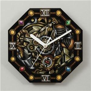 【おまとめ10個セット】 アーテック 八角アートガラス時計 13239 4521718132396