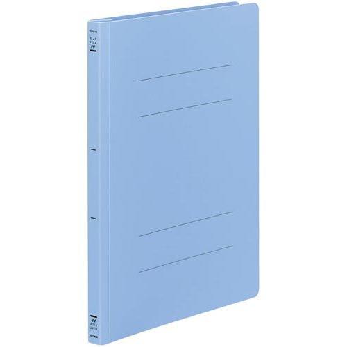 【販売セット数:100】4901480068183 コクヨ フラットファイルPP樹脂製とじ具 A4縦 15mmとじ 青 フ-H10B フ-H10B
