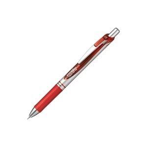 【販売セット数:200】4902506254719 ぺんてる Pentel エナージェルBLN75シルバー軸 赤 BLN75Z-B
