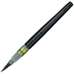 【販売セット数:100】4902506142924 ぺんてる Pentel ぺんてる 筆ペン すき穂 XFL2V
